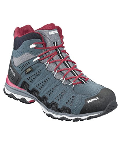 Meindl Shoes X-so 70 Lady Mid Gtx Surround - Turchese / Antracite Bordeaux / Antracite