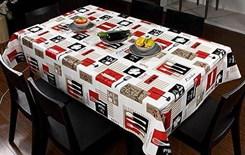 MNII Wasserdichte Tisch Wasserdicht Anti-Hot öLbestäNdige Tuch Rechteck Leinen GroßE Tischdecke FüR Gartentisch , 137*220cm , colors- Bequem und sauber