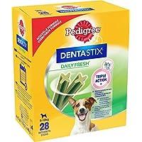 Pedigree Dentastix Fresh Friandises pour Petit Chien, Bâtonnet à Mâcher pour l'Hygiène Bucco-Dentaire 28 Sticks - Pack de 4