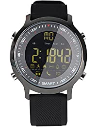 Reloj Inteligente Mujer Hombre Deporte, Harpily Smart Watch Wrist Bluetooth Fashion Podometer Nuevo Ritmo cardíaco para iOS Android Deportivo Ocio (Negro)