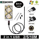 HITSAN Hd Usb Endoscope Camera Usb Android Endoscopic Camera Black 2m 5m 10m Android Pc Boroscope Usb Inspection Camera