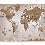 murando Carta da parati 300x210 cm Fotomurali in TNT Murale alla moda Decorazione da Muro XXL Poster Gigante Design Carta per pareti Mappa del Mondo Continente k-A-0108-a-a