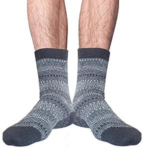 unisex seamless toe angora wool winter socks uk size 6-8