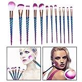OFKPO 12PCS Belleza Profesional Brochas de Maquillaje, Face Eye Shadow Eyeliner Foundation Blush Lip...