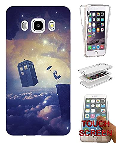 002063 - Cool Floating Women Galaxy Doctor Who Tardis Out Of Space Design Samsung Galaxy J5 (2016) SM-J510X Fashion Trend Complete 360 Degree protection Coque Gel Rubber Silicone protection Case Coque