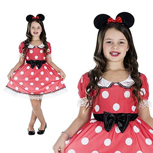 Maus Mini Mauskostüm Kinderkostüm Mädchen (Monster Kostüm Mini)