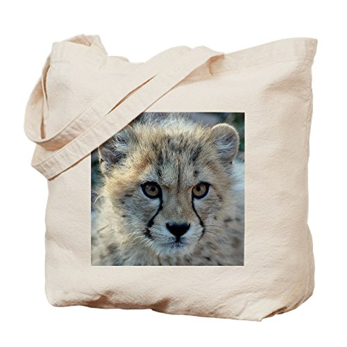 CafePress Tasche Cheetah Cub, canvas, khaki, S -