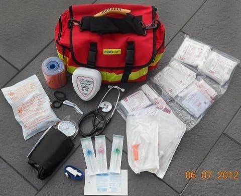 AEROcase® GEFÜLLT - Notfalltasche Polyester Gr. S - Rettungsdienst Notfall Rucksack - Notfall Notfalltasche MIH Medical