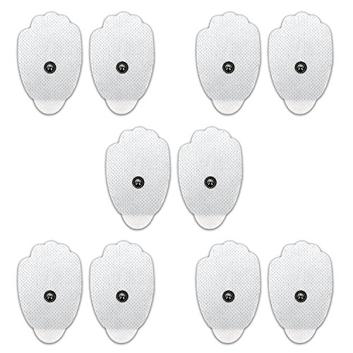 Novatech 10 Piece Elektrode Pads Tens Elektroden on 3.5mm for TENS/EMS Digital Therapy Machine Muscle Stimulator Pain Relief Massager Massage Pads
