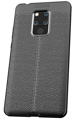 Tianqin Huawei Mate 20X Cover, Coperture Antiurto Ultra Sottile Cover Protettiva in Silicone Alloggiamento Fibra Carbonio Durevole Soft TPU Custodia Case per Huawei Mate 20X Case - Nero