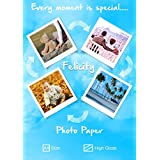 Felicity Premium Quality High Gloss High Glossy A4 Photo Paper (260 GSM,Pack Of 20)