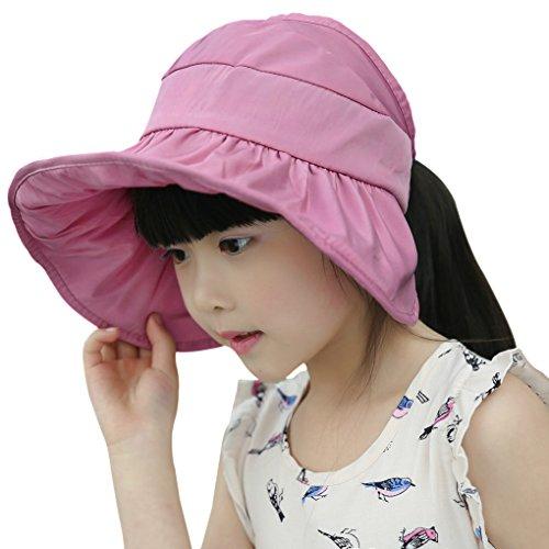 5c1ed692aaf Nouveau Chapeau de Seau Enfants Pliable Panama Réglable Casquette Visière  Large Bord Chapeau de Soleil en