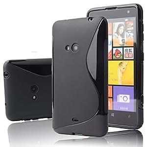 Nokia lumia 625 Magic Brand S-Line Black Soft Silicon Back Cover Case