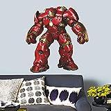 Kibi Stickers 3D Trompe L'Oeil Avengers Iron Man Stickers Muraux Iron Man Autocollant Personnage Marvel Iron Man