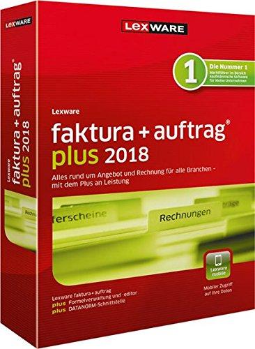 Lexware faktura+auftrag 2018 plus-Version Minibox (Jahreslizenz) | Einfache Auftrags- & Rechnungs-Software für alle Branchen | Kompatibel mit Windows 7 oder aktueller