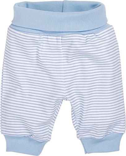 Schnizler Baby - Jungen Hose Babyhose, Jogginghose Ringel mit elastischem Bauchumschlag, Oeko - Tex Standard 100, Gr. 68, Blau (weiß/bleu 117)