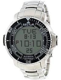 Sector Herren-Armbanduhr XL Dive Master Digital Edelstahl R3253967001