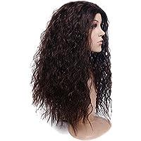 Kinky pelo rizado oscuro marrón largo Fluffy peluca con pelo rizado  ondulado mujeres cosplay-high 351708fe3200