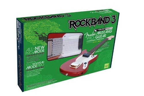 fender mustang iii Rock Band 3 Wireless Fender Mustang PRO-Guitar Controller for Xbox 360 by Mad Catz