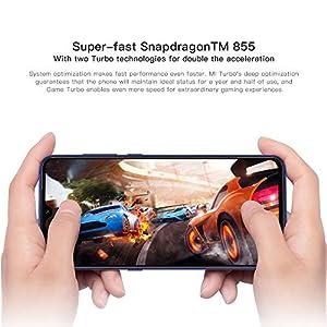 "eiAmz Xiaomi Mi 9 Smartphone,6 GB de RAM, 128 GB de ROM, 6.39"" AMOLED Dot Drop en Pantalla Completa, 48 MP 117 ° Macro de Gran Angular Triple cámara (12 + 48 + 16 (Azul)"