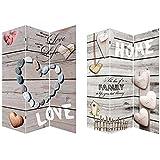 Biombo fotoimpresión sobre lienzo reforzado, montado sobre bastidores de madera, Mod. Love Life.