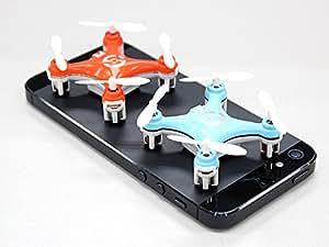 BlueBeach® Mini Quadrocopter CX10 4x4cm 4 Kanal 2,4GHz 3D Ufo Drohne Gyro (Blau)