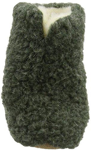 Woolsies Aconca Natural, Pantofole con Fodera in Lana, da Donna Verde (Green)