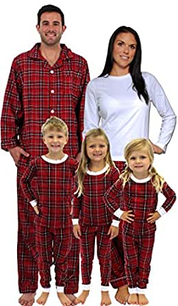 sleepytimepjs pyjamas de noel rouge a carreaux pour toute la famille m d cor 2x. Black Bedroom Furniture Sets. Home Design Ideas