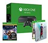 Xbox One 500 GB 2015 + FIFA 16 - Deluxe Edition inkl. Steelbook + Destiny - König der Besessenen