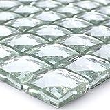 Glasmosaik Fliesen Brilliant Weiss