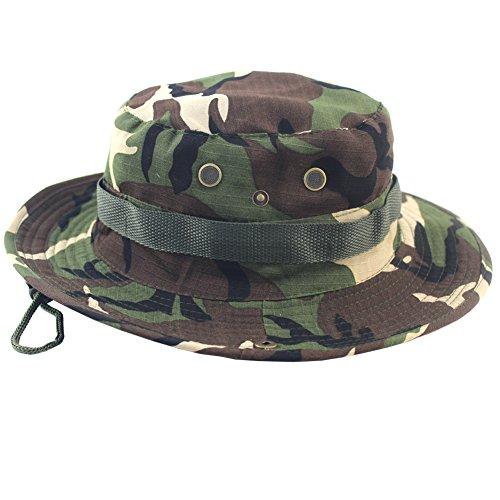 chsene Armee Boonie Hut Buschhut Militär Camouflage Sonnenhut Kappe Hüte Outdoor Sports Angelhut Jagdhut Campinghut Wanderhut (Camo Armee Hut Für Erwachsene)