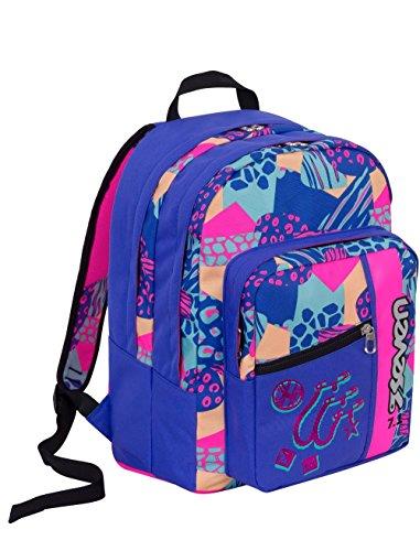 Zaino scuola Outsize SEVEN - SWAG GIRL - Blu Rosa - 33 LT - inserti rifrangenti