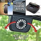 zooarts Solar Fenster Wärme betrieben Fan Ventilator Auto Cool Pets Air Vent KFZ Fahrzeug Van