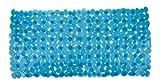 Wenko 20262100 Tappeto vasca Paradise verde petrolio, Materiale plastico, Petrolio