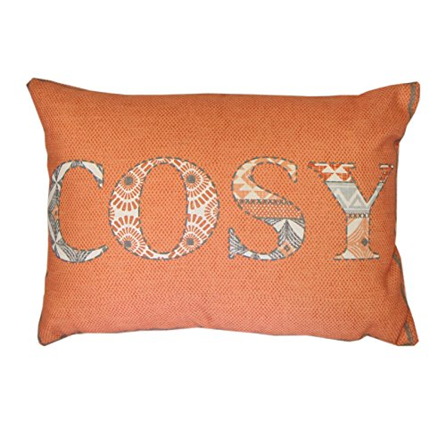 Perfect Just Contempo Moroccan Cosy Filled Cushion, Orange, 15x11 Inches Part 30
