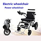 NCCTRW New Model Fold & Travel Lightweight Electric Wheelchair Motor Motorized Wheelchairs Electric Power Wheelchair Power Scooter Aviation Travel Safe Heavy Duty Mobility Aids Chair