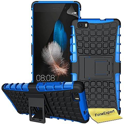 Huawei P8 Lite Funda, FoneExpert® Heavy Duty silicona híbrida con soporte Cáscara de Cubierta Protectora de Doble Capa Funda Caso para Huawei P8 Lite + Protector Pantalla