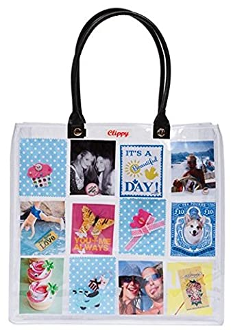 Clippy London Large Foto Tasche: Tragetasche mit 24 Fotofächern