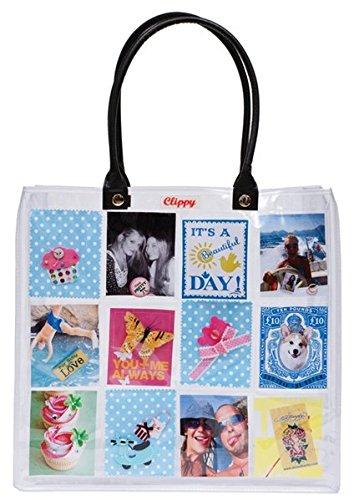 Preisvergleich Produktbild Clippy London Large Foto Tasche: Tragetasche mit 24 Fotofächern