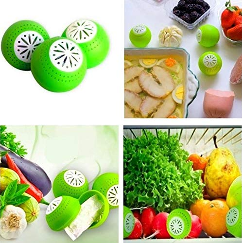 3 units of air fresheners for the fridge, deodorant balls, eliminates the smell of food, fresher for longer