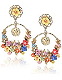 YouBella Stylish Party Wear Jewellery Gold Plated Drop Earrings for Women (Multi-Colour)(YBEAR_31644)