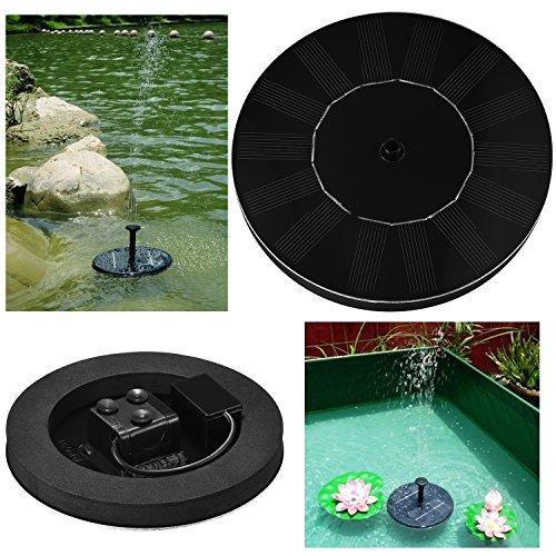 Liqoo® Solarpumpe Springbrunnen Teichpumpe für Garten , für Miniteich , Verschiedene Fontäne Fördermenge 180 L / h ; 4 Sprühdüsen ; Höhe 0,5 m ; 1,4 W ; DC 7V