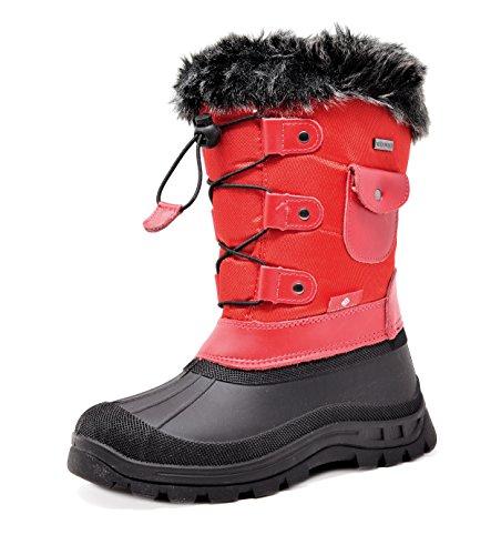 83b01be72654 Dream Pairs Boys Girls Child Ksnow Mid Calf Waterproof Winter Snow Boots
