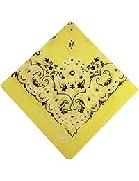 fabfive–HAV de a de Hank–Original fabricado en Estados Unidos Bandana–Yellow, unisex, color Amarillo - amarillo, tamaño One Size / Ohne Größe