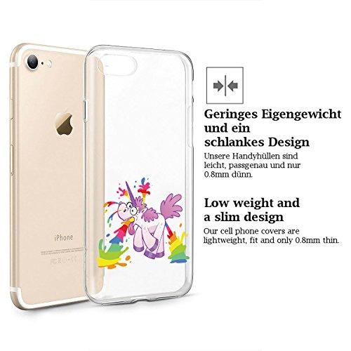 finoo   iPhone 6 / 6S Weiche flexible Silikon-Handy-Hülle   Transparente TPU Cover Schale mit Motiv   Tasche Case Etui mit Ultra Slim Rundum-schutz   Einhorn klein 1 Einhorn überall