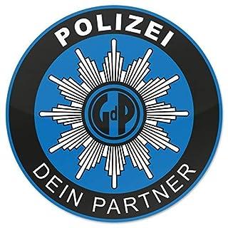 Polizei GDP 10x Aufkleber Außen Knöllchenstop Gewerkschaft Sticker Blau