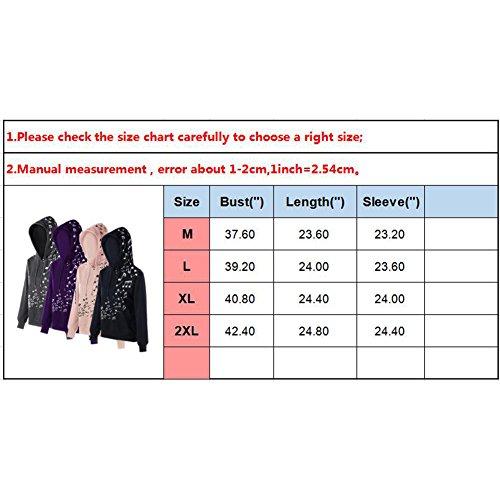 Juleya Sweat-shirts à capuche femme Dame pullover Slim Fit Top manches longues Chemises Musical Note Imprimer Manteau Sweat-shirt Pulls 4 Couleurs M L XL XXL Noir