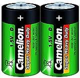 Mono-Batterie CAMELION Super Heavy Duty, 1,5 V, Typ D/R20, 2er Pack