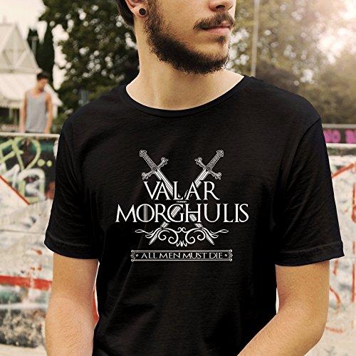 Game of Thrones Valar Morghulis All Men Must Die T-Shirt Größe XS-4XL Schwarz