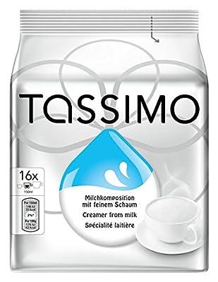 Tassimo Milk Creamer 16 Discs/Pods, Pack of 5 (80 Discs in Total)